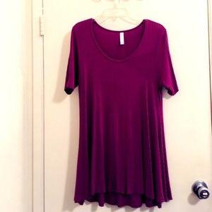 Lularoe Blush pink Lavender blouse Sz S